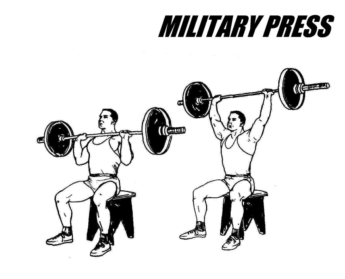 Image result for seated military presses
